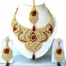 Indian Bridal Jewelry Necklace Set Multicolor Stones VS-1351