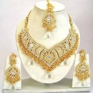 Indian Bridal Jewelry Necklace Set Multicolor Stones VS-1619