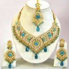 Indian Bridal Jewelry Necklace Set Multicolor Stones VS-1623