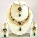 Indian Bridal Jewelry Necklace Set Multicolor Stones VS-1633