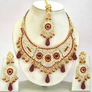 Indian Bridal Jewelry Necklace Set Multicolor Stones VS-1640