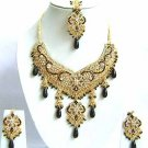 Indian Bridal Jewelry Necklace Set Multicolor Stones VS-1658