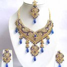 Indian Bridal Jewelry Necklace Set Multicolor Stones VS-1659