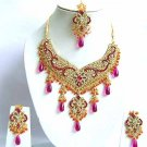 Indian Bridal Jewelry Necklace Set Multicolor Stones VS-1660