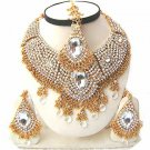 Diamond and Gold Jewelry Necklace Set w Stones NP-20