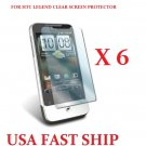 6 units HTC Legend Clear Screen Protector Guard LCD Cover.