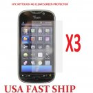 3 units HTC Mytouch 4g  Clear Screen Protector Guard LCD Cover.
