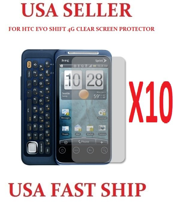 10 units HTC INSPIRE 4G Clear Screen Protector Guard LCD Cover.