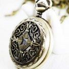 Four water chestnut Pocket Watch Necklace
