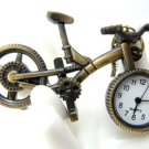 Retro pocket watch necklace bike