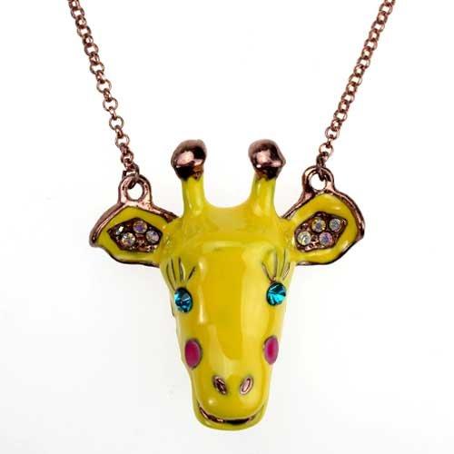 Cute clown deer necklace