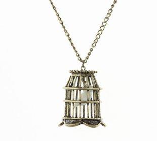 Retro Bird cage necklace