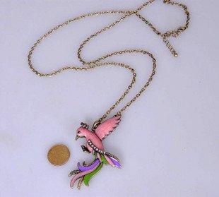 Pink Phoenix necklace