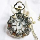 Six Rose pocket watch necklace