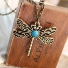 Retro Dragonfly necklace
