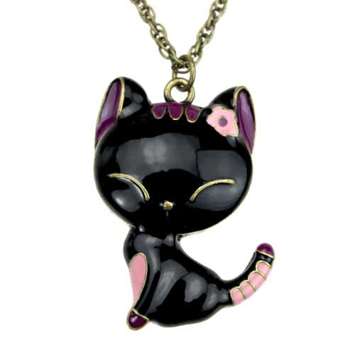 Cute kitten necklace