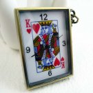 Poker pocket watch necklace