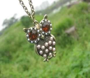 Owl necklace BZ176