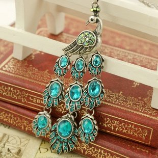 Retro necklace peacock BZ185