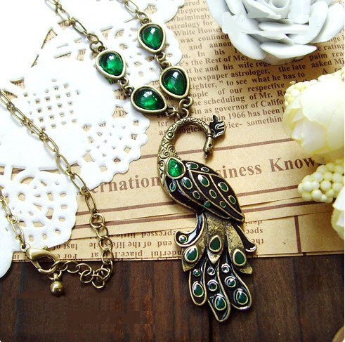 Beautiful peacock necklace BZ92