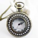 swarovski crystals Pocket watch Necklace