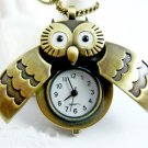 Owl watch necklace BZ32