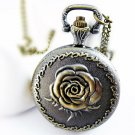 Medium Rose Necklace pocket watch