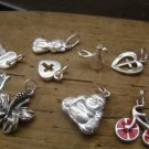 NEW COLLECTION - Sterling Silver Charms - Enameled bike - 1 Charm
