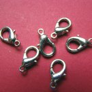 50 pcs plated silver lobster claws clasp