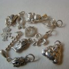 NEW- Sterling Silver Charms beads - 6 charms, your choice