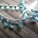 BIG SALE- 9.90 ZIRCON- Translucent Natural Light Blue- Chandelier Briolettes- 3-5mm