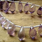 HUGE SALE- 2.5 inches -AAA Amethyst- Excellent Clarity Lilas Chandelier briolettes- 6-7 mm