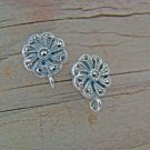 NEW Findings- Swiss Marcasite Sterling Silver Flower Post earrings