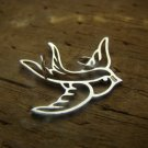 Bird Component, findings, pendant Sterling Silver Jewelry