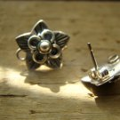 Flowers Components, findings-sterling silver Earrings