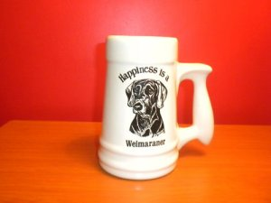 Vintage Happiness is a Weimaraner Stein/Lg Mug