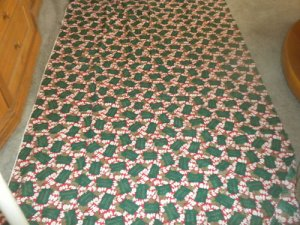 Christmas HoHoHo Bah Humbug Cotton Fabric