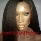 "Indian Remy Kinky Straight 20"" Full Lace wig"