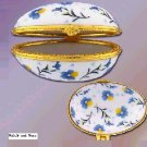 NEW Porcelain Flower Print Egg Box