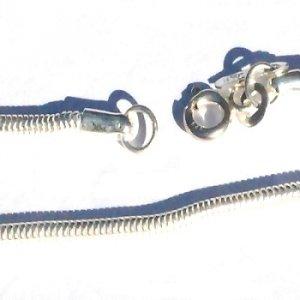 Sterling Silver 15 3/4 inch 2mm snake neckchain