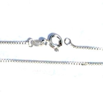 925 Sterling Silver 18 Inch 1.1mm wide Box Neck Chain Necklace