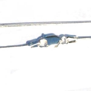 Sterling Silver 16 Inch 8 side 1 mm Snake Neck Chain.
