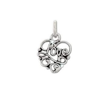 Sterling Silver Fancy LOVE Pendant