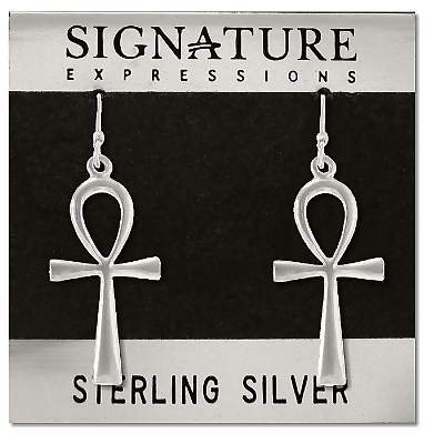 Sterling Silver Ankh Dangle Earring