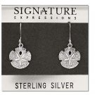 Sterling Silver Starfish in the sand dangle earrings