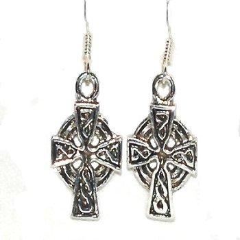 Sterling Silver Celtic Filigree Cross Dangle Earring