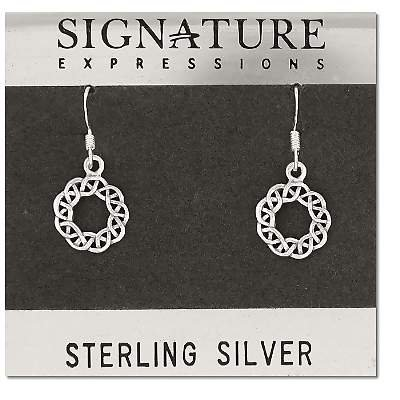 Sterling Silver Celtic Shield Knotted Filigree Earrings