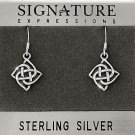 Sterling Silver Celtic Knot Dangle Earring