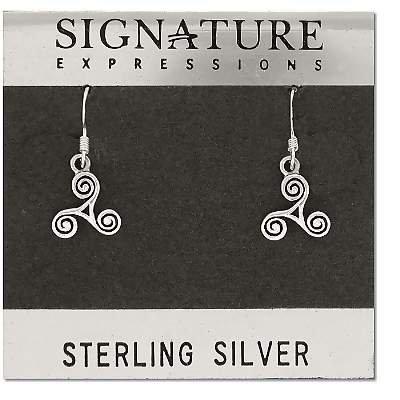 Sterling Silver Celtic Triskele Celtic Earrings