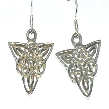 Sterling Silver Celtic Knotted Filigree Dangle Earring